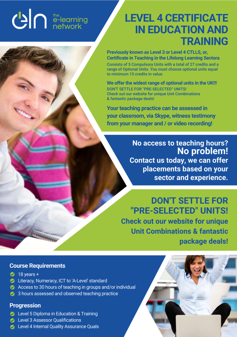 Level 4 Certificate in Education & Training