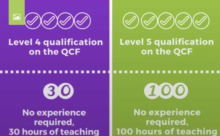 LEVEL 4 CERTIFICATE IN EDUCATION & TRAINING + LEVEL 5 DIPLOMA IN EDUCATION & TRAINING