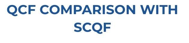 QCF COMPARISON WITH SCQF