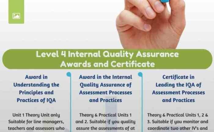 LEVEL 4 INTERNAL QUALITY ASSURANCE COURSES