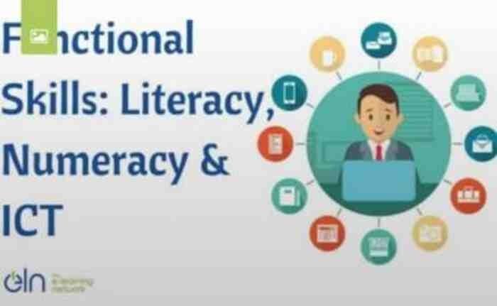 FUNCTIONAL SKILLS: LITERACY, NUMERACY & ICT